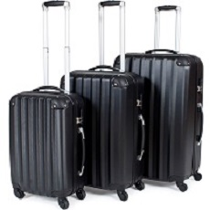 TecTate Lot de 3 valises trolley valise Rigide à Roulettes