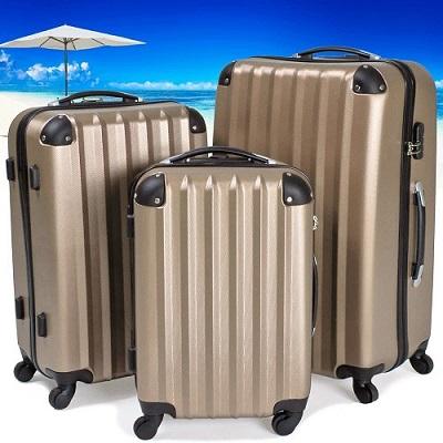 grande valisde pas cher tectake set 3 valises pas cher set valise. Black Bedroom Furniture Sets. Home Design Ideas