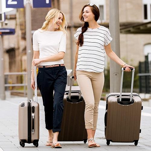 grande valise pas cher TecTake Lot de 3 Valises Trolley Valise Rigide à Roulettes
